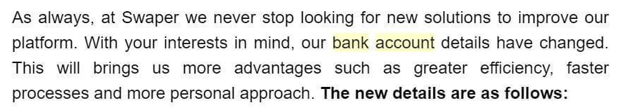 préstamos p2p cambian cuenta bancaria
